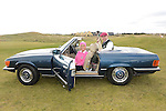 Captain Dan Reynolds and Lady Captain Sandra Kierans arrived in style at the Captain's Drive in at Seapoint Golf Club. Photo:Colin Bell/pressphotos.ie