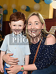 Felix everitt and his mam Karen Duke at the Polish Family Fun Day in St. Mary's Parish hall. Photo:Colin Bell/pressphotos.ie