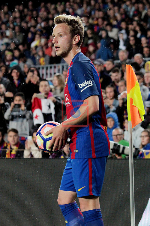 League Santander 2016/2017. Game: 32.<br /> FC Barcelona vs Real Sociedad: 3-2.<br /> Ivan Rakitic.