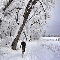 A winter cyclocross ride near Boulder, Colorado.