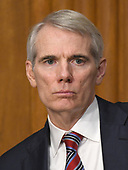 """United States Senator Rob Portman (Republican of Ohio) listens during a US Senate Committee on Finance hearing on """"Individual Tax Reform"""" on Capitol Hill in Washington, DC on Thursday, September 14, 2017.<br /> Credit: Ron Sachs / CNP"""