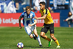 CD Leganes' Alexander Szymanowski (l) and Malaga CF's Roberto Rosales during La Liga match. February 25,2017. (ALTERPHOTOS/Acero)