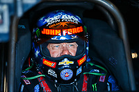 Sep 30, 2017; Madison , IL, USA; NHRA funny car driver John Force during qualifying for the Midwest Nationals at Gateway Motorsports Park. Mandatory Credit: Mark J. Rebilas-USA TODAY Sports