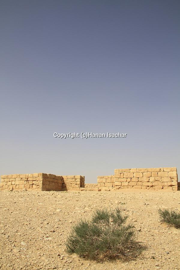 Israel, Negev, Zin fortress overlooking Wadi Zin