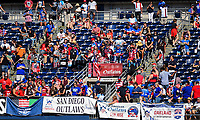 San Diego, CA - Sunday July 30, 2017: American Outlaws during a 2017 Tournament of Nations match between the women's national teams of the United States (USA) and Brazil (BRA) at Qualcomm Stadium.