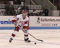 Boston, Massachusetts - January 23, 2016: NCAA Division I. Boston University (white/red) defeated Providence College (black), 5-1, at Agganis Arena.