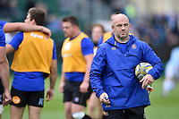 High Performance Manager Allan Ryan looks on during the pre-match warm-up. Aviva Premiership match, between Bath Rugby and Exeter Chiefs on October 17, 2015 at the Recreation Ground in Bath, England. Photo by: Patrick Khachfe / Onside Images