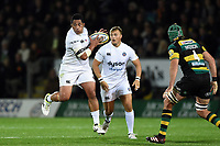 Anthony Perenise of Bath Rugby in possession. Aviva Premiership match, between Northampton Saints and Bath Rugby on September 15, 2017 at Franklin's Gardens in Northampton, England. Photo by: Patrick Khachfe / Onside Images