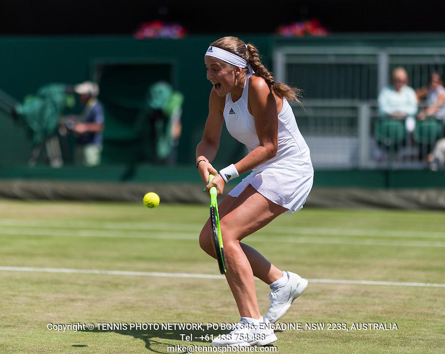 JELENA OSTAPENKO (LAT)<br /> <br /> TENNIS - THE CHAMPIONSHIPS - WIMBLEDON- ALL ENGLAND LAWN TENNIS AND CROQUET CLUB - ATP - WTA -ITF - WIMBLEDON-SW19, LONDON, GREAT  BRITAIN- 2017  <br /> <br /> <br /> &copy; TENNIS PHOTO NETWORK