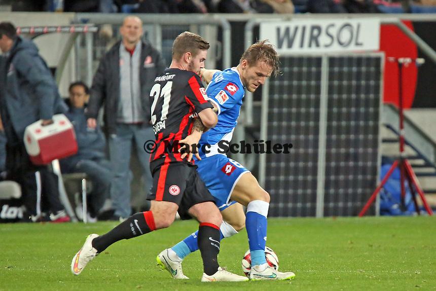 MArc Stendera (EIntracht) gegen Eugen Polanski (Hoffenheim) - TSG 1899 Hoffenheim vs. Eintracht Frankfurt, WIRSOL Neckar Arena Sinsheim
