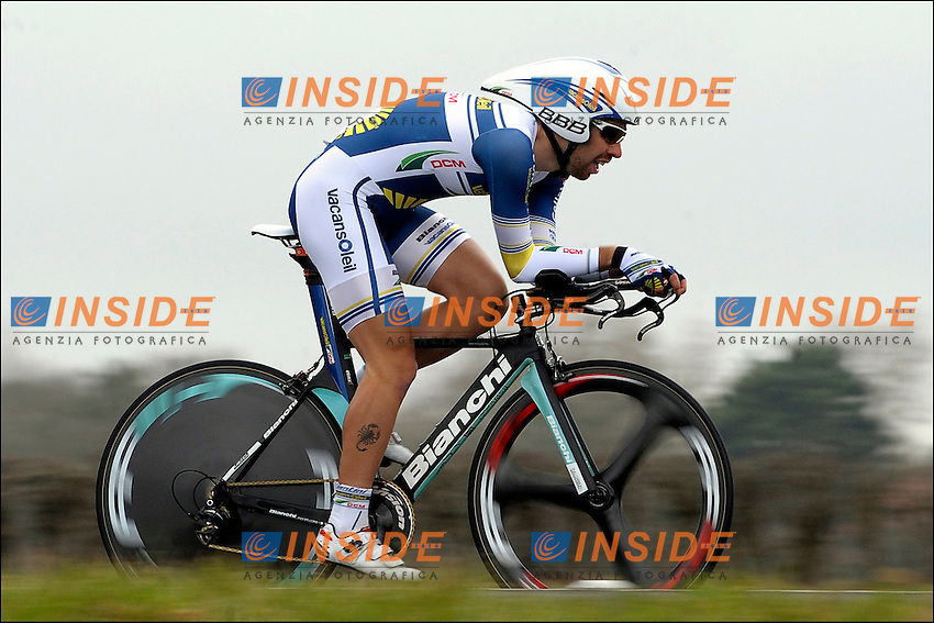 .Thomas De Gendt ( BEL ) - Vacansoleil DCM  .4/3/2012 Ciclismo Parigi Nizza Cronometro.Foto Insidefoto / De Voecht / Photo News / Panoramic.ITALY ONLY