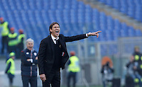 Calcio, Serie A: Roma vs Genoa. Roma, stadio Olimpico, 20 December 2015.<br /> Roma's coach Rudi Garcia gives indications to his players during the Italian Serie A football match between Roma and Genoa at Rome's Olympic stadium, 20 December 2015.<br /> UPDATE IMAGES PRESS/Isabella Bonotto
