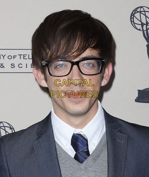 KEVIN McHALE .An evening with 'GLEE' held At Leonard H. Goldenson, North Hollywood, California, USA, 26th April 2010..portrait headshot grey gray tie sweater jumper glasses blue .CAP/ADM/KB.©Kevan Brooks/AdMedia/Capital Pictures.