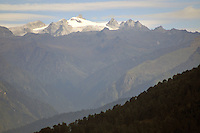 A view of a mountain peak  from Bumthang, Bhutan. Arindam Mukherjee..