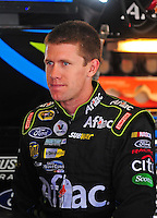 Aug. 7, 2009; Watkins Glen, NY, USA; NASCAR Sprint Cup Series driver Carl Edwards during practice for the Heluva Good at the Glen. Mandatory Credit: Mark J. Rebilas-