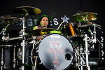 Xavier Muriel of Buckcherry performs at the Klipsch Music Center in Indianapolis, IN.