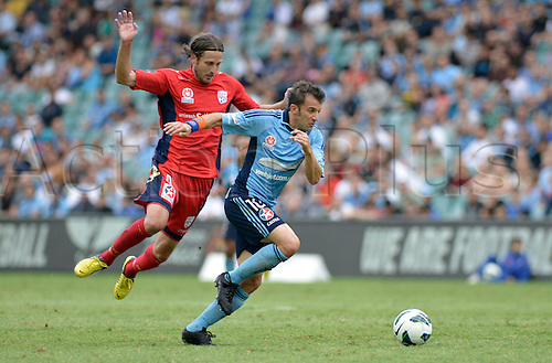 16.02.2013 Sydney, Australia. Sydneys Italian forward Alessandro Del Piero in action during the Hyundai A League game between Sydney FC and Adelaide United from the Allianz Stadium.