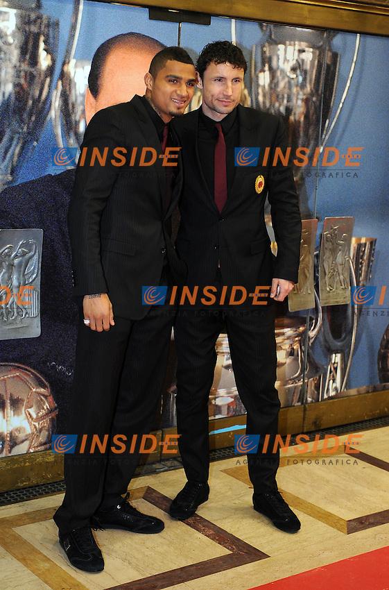 Prince BOATENG e Mark VAN BOMMEL<br /> Milano, 13/03/2011 Teatro Manzoni<br /> 25&deg; anniversario di presidenza Berlusconi al Milan<br /> Campionato Italiano Serie A 2010/2011<br /> Foto Nicolo' Zangirolami Insidefoto