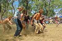 Blackfellas and Whitefellas - Kicking Up Dust,  Laura Aboriginal Dance Festival, Laura, Cape York Peninsula, Queensland, Australia.