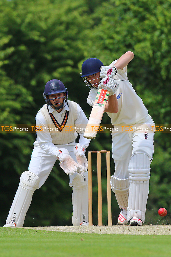 M Salisbury in batting action for Shenfield during Shenfield CC vs Ilford CC, Shepherd Neame Essex League Cricket at Chelmsford Road on 2nd July 2016