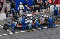 Feb 15, 2007; Daytona, FL, USA; Nascar Nextel Cup Series driver Ward Burton (4) pits during race one of the Gatorade Duel at Daytona International Speedway. Mandatory Credit: Mark J. Rebilas