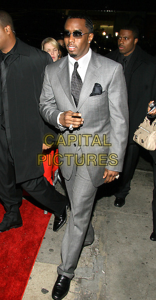 "SEAN ""DIDDY"" COMBS.""The Color Purple"" Broadway Opening Night, New York, NY..December 1st, 2005.Photo: Jackson Lee/Admedia/Capital Pictures.Ref: JL/ADM.full length grey gray suit sunglasses shades .www.capitalpictures.com.sales@capitalpictures.com.© Capital Pictures."