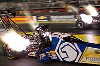 May 3, 2019; Commerce, GA, USA; NHRA top fuel driver Antron Brown during qualifying for the Southern Nationals at Atlanta Dragway. Mandatory Credit: Mark J. Rebilas-USA TODAY Sports