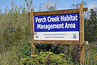 Perch Creek Habitat Management Area. The area is owned by the County of Lambton and managed by the St. Clair Region Conservation Authority. This 200 acre property includes floodplain and upland forest, hedgerows, open meadow and wetlands. Over 5 km of trails takes the hiker through a variety of habitats. The Management Area is located on Churchill Line just east of Blackwell Rd. Facilities: parking lot....