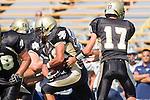 Palos Verdes, CA 09/09/11 - Okuoma Idah (Peninsula #24) and Matt Imwalle (Peninsula #17) in action during the North Torrance-Peninsula Panthers varsity football game.