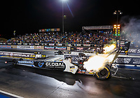 Jul 21, 2017; Morrison, CO, USA; NHRA top fuel driver Shawn Langdon during qualifying for the Mile High Nationals at Bandimere Speedway. Mandatory Credit: Mark J. Rebilas-USA TODAY Sports