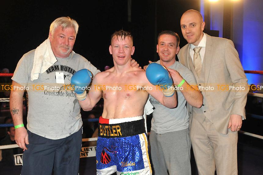 Matt Butler (blue shorts) defeats Yosiv Panovi - Boxing at the Camden Centre, London - 07/03/15 - MANDATORY CREDIT: Philip Sharkey/TGSPHOTO - Self billing applies where appropriate - contact@tgsphoto.co.uk - NO UNPAID USE
