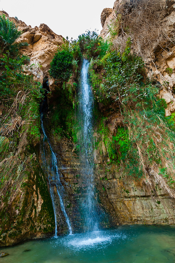 Waterfall, En Gedi Nature Reserve near the Dead Sea, Israel.