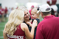 NWA Democrat-Gazette/J.T. WAMPLER Image from Saturday August 12, 2017 during the RazorbacksÕ annual Fan Day at the University of Arkansas. Football players and coaches were available for autographs with the soccer and volleyball teams.