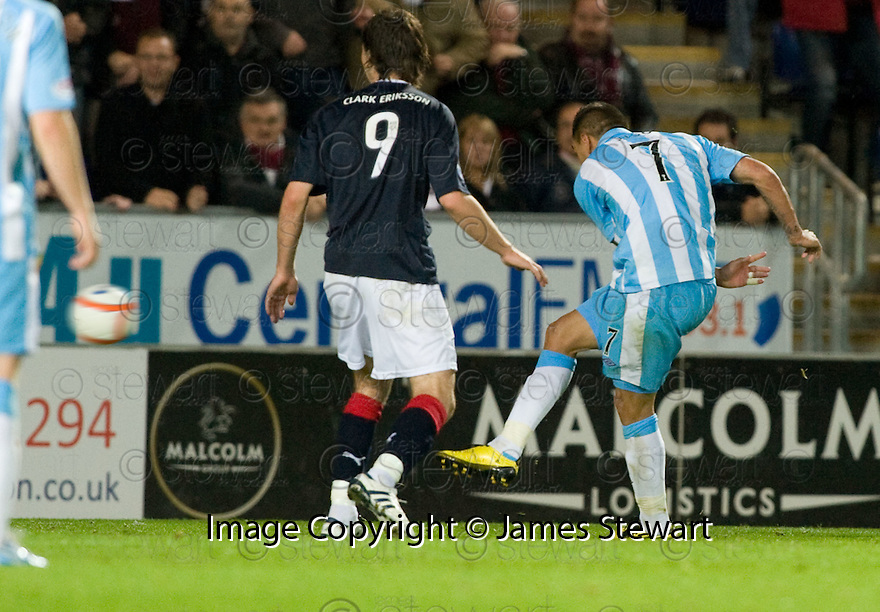 21/09/2010   Copyright  Pic : James Stewart.sct_jsp018_falkirk_v_hearts  .:: SUSO SANTANA SCORES THE SECOND :: .James Stewart Photography 19 Carronlea Drive, Falkirk. FK2 8DN      Vat Reg No. 607 6932 25.Telephone      : +44 (0)1324 570291 .Mobile              : +44 (0)7721 416997.E-mail  :  jim@jspa.co.uk.If you require further information then contact Jim Stewart on any of the numbers above.........
