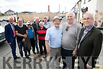 Former Denny's Staff, pictured at the original Denny's site on Friday last were l-r: Councillor Sam Locke, Tom Foley, Billy Lyons, Martin Reidy, Johnny Brosnan, Martin Hurley, George Vincent Raymond, Michael Donovan and Kevin O'Connor.