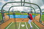 22 February 2013: Washington Nationals' outfielder Roger Bernadina takes batting practice during a full squad Spring Training workout at Space Coast Stadium in Viera, Florida. Mandatory Credit: Ed Wolfstein Photo *** RAW File Available ***