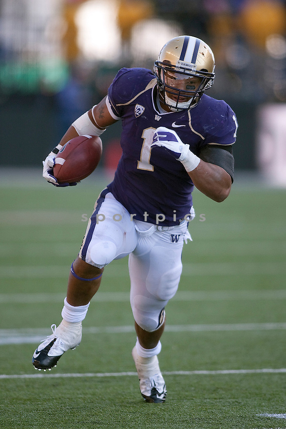 CHRIS POLK of the Washington Huskies, in action during Washington's game against the Colorado Buffaloes on October 15, 2011 at Husky Stadium in Seattle, WA. Washington beat Colorado 52-24.