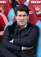 Pictured: Swansea manager Michael Laudrup. 01 February 2014<br /> Re: Barclay's Premier League, West Ham United v Swansea City FC at Boleyn Ground, London.
