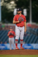 Peoria Chiefs pitcher Jake Dahlberg (13) looks in for the sign during a game against the Bowling Green Hot Rods on September 15, 2018 at Bowling Green Ballpark in Bowling Green, Kentucky.  Bowling Green defeated Peoria 6-1.  (Mike Janes/Four Seam Images)