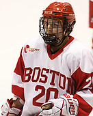 Samantha Sutherland (BU - 20) - The Boston College Eagles defeated the Boston University Terriers 3-2 in the first round of the Beanpot on Monday, January 31, 2017, at Matthews Arena in Boston, Massachusetts.