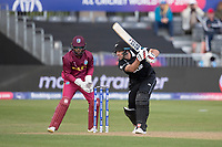 Colin de Grandhomme (New Zealand) drivves through the covers during West Indies vs New Zealand, ICC World Cup Warm-Up Match Cricket at the Bristol County Ground on 28th May 2019