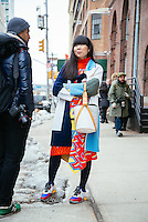 Susanna Lau (Susie Bubble) attends Day 3 of New York Fashion Week on Feb 14, 2015 (Photo by Hunter Abrams/Guest of a Guest)