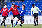 Muangthong Forward Xisco Jimenez (L) in action against Ulsan Hyundai Defender Jung Seunghyun (R) during the AFC Champions League 2017 Group E match between  Ulsan Hyundai FC (KOR) vs Muangthong United (THA) at the Ulsan Munsu Football Stadium on 14 March 2017 in Ulsan, South Korea. Photo by Chung Yan Man / Power Sport Images