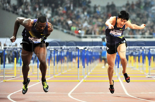 May 23, 2010; Shanghai, CHINA; Liu Xiang finished a distant third at the IAAF Diamond League as American David Oliver scorched to victory over the 110m hurdles in a world leading 12.99 seconds.