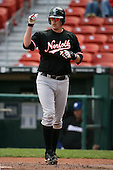May 9, 2009:  Designated Hitter Matt Wieters of the Norfolk Tides, International League Class-AAA affiliate of the Baltimore Orioles, after scoring a run during a game at Coca-Cola Field in Buffalo, FL.  Photo by:  Mike Janes/Four Seam Images