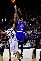 Saints&rsquo; Leon Henry in action during the NBL - Cigna Saints v Bay Hawks at TSB Bank Arena, Wellington, New Zealand on Friday 12 April 2019. <br /> Photo by Masanori Udagawa. <br /> www.photowellington.photoshelter.com