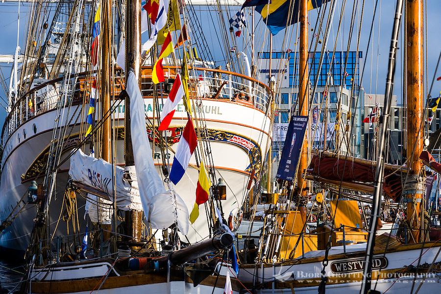 Norway, Stavanger. Tall Ships Race in Stavanger 2011. Statsraad Lehmkuhl.