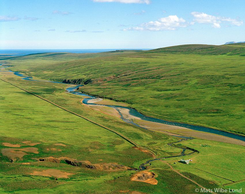 Áslaugarstaðir, Selárdalur séð til austurs, Vopnafjarðarhreppur / Aslaugarstadir, Selardalur viewing east, Vopnafjardarhreppur.