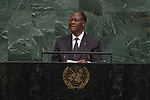 72 General Debate – 20 September <br /> <br /> <br /> His Excellency Alassane Ouattara, President of the Republic of Côte d'Ivoire