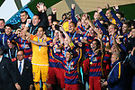 FC Barcelona team group, <br /> DECEMBER 20, 2015 - Football / Soccer : <br /> FIFA Club World Cup Japan 2015 <br /> Award Ceremony <br /> between River Plate - FC Barcelona <br /> at Yokohama International Stadium in Kanagawa, Japan. <br /> (Photo by YUTAKA/AFLO SPORT)